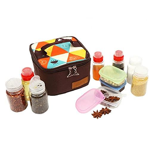 Bao xiang Caja De Condimento Impermeable BBQ Spice Tarras De Frascos Conjuntos De Agua a Prueba De Agua Pantenimiento Puede con Bolsa De Almacenamiento 10pcs