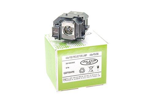 Alda PQ-Premium, Beamerlampe / Ersatzlampe für EPSON EH-DM3, MOVIEMATE 60, MOVIEMATE 62 Projektoren, Lampe mit Gehäuse