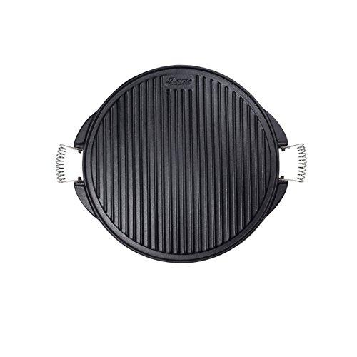 Algon AH111 Plancha de Cocina, 43 cm de diámetro, Inoxidable con Doble Cara, Hierro