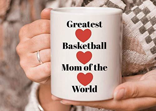 N\A Taza de café de Baloncesto La Mejor mamá de Baloncesto del Mundo Taza de café Regalo para mamá Hermana Amiga para Navidad Festival de acción de Gracias Regalo de Amigos Taza Grande