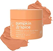Pumpkin Spice Clay Enzyme Facial Mask - Removes Pimples, Pore Minimizer, Blackheads, Wrinkles, Breakouts, Acne, Hydrates, Tightens, Brightens, Organic Pumpkin Seed Oil Dermal Body Purifying 3.5 oz