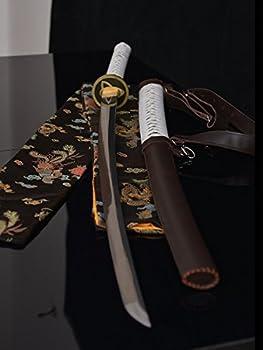 The Walking Dead Sword-Michonne s Katana Zombie Killer Damascus Folded Steel Blade Sword Japanese Katana Sharp Full Tang Sword