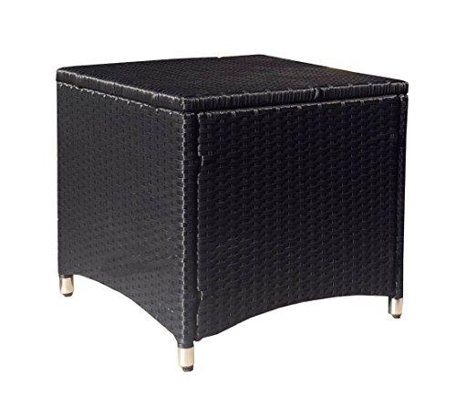 Famous Home GRASEKAMP kwaliteit sinds 1972 rotan kruk 50x50cm zwart