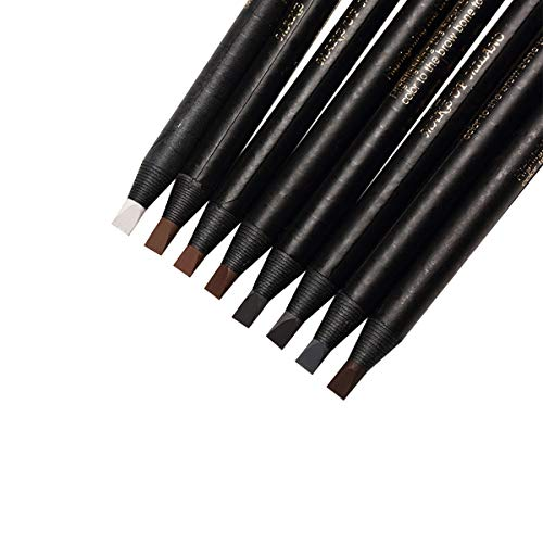 Guapa Microblading Eyebrows Pencil Waterproof Pull Cord Peel-off Brow Pencil Set for Marking, Filling and Outlining, Tattoo Makeup and Permanent Makeup Eye Brow LIner Beauty (5pcs, Black)