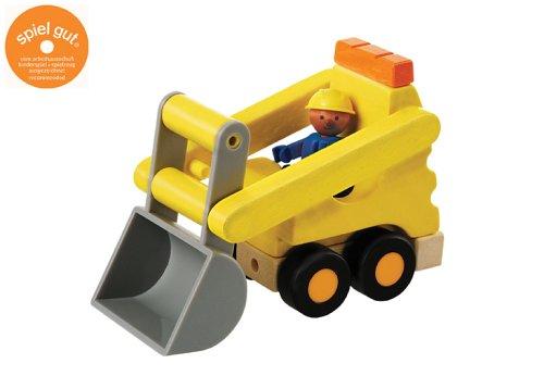 Hape Woody Click 1040609 - Bulldozer mit Arbeiter
