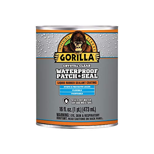 Gorilla Waterproof Patch & Seal Liquid, Clear, 16 Ounces, 1 Pack