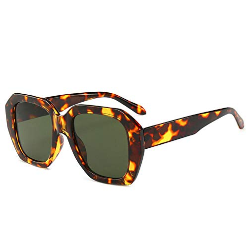 Gafas De Sol Gafas De Sol Mujer Gafas De Sol De Gran Tamaño Mujer Retro Irregular Lady Eyewear Uv400-Green