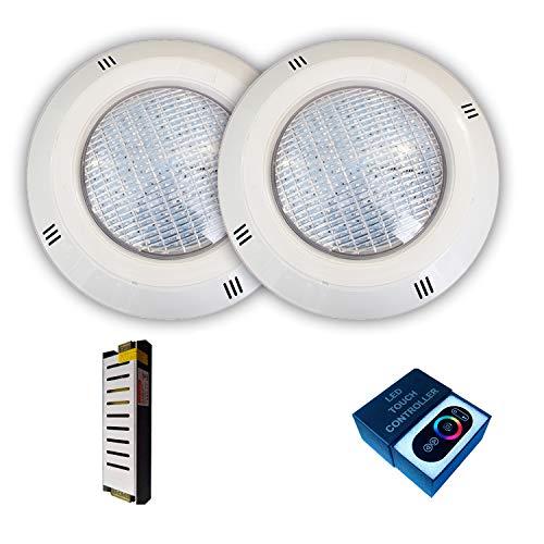 Pack Focos LED 18W RGBV+ Cable 4 Hilos configurable + Transformador +...