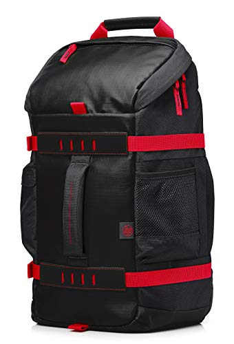 HP Odyssey Black & Red Sport Backpack for Up to 15.6 Inch (39.6 cm) Laptop/Chromebook/Mac