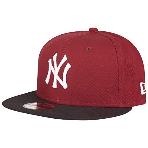 New Era Colour Block 9Fifty Snapback Cap NY Yankees Rot Schwarz, Size:M/L