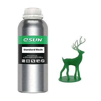 eSUN 3D Printer Rapid Resin, LCD UV-Curing Resin 405nm General Purpose Standard Resin for Photon LCD 3D Printer Photopolymer Resin Liquid 3D Resin, 1000g Medium Green