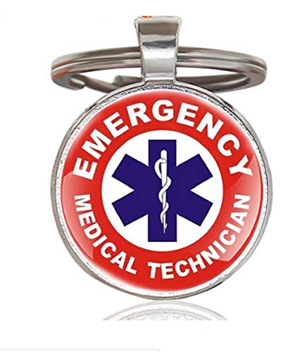 Paramedic or EMT EMS Star of Lift Keychain for Emergency Medical Technician & First Responders