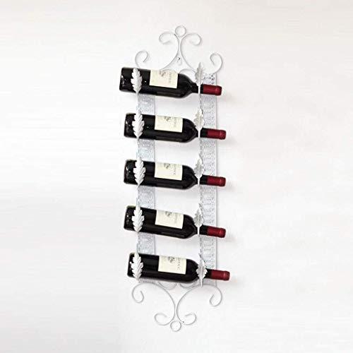 Glyyr Botelleros Estante de vino hierro forjado pared colgante vino estante de vino botella de vino estante Decoración de vino Mostrar soporte Sala de estar Bar Mesa Decoración Reparación creativa Mod
