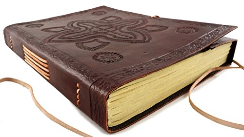 Leather Journal Sketchbook Hand Tooled 11.5