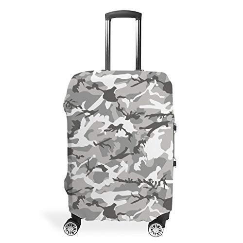 Fundas de equipaje de viaje de camuflaje – Llamativas 4 tamaños para equipaje protector, White (Blanco) - STELULI-XLXT-24