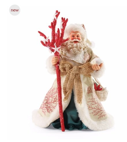 Possible Dreams by The Sea Coral Christmas Santa Figurine 4050055D