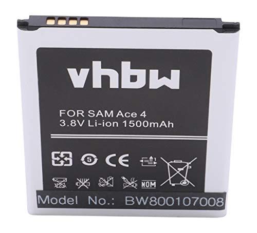 vhbw Li-Ion Akku 1500mAh (3.8V) für Handy Smartphone Samsung Galaxy SM-G310HN, SM-G313HU, SM-G313HZ wie B130, EB-B130BE.