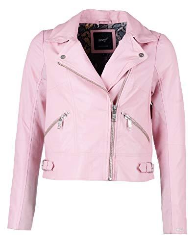 Maze Damen Lederjacke Rockig Sweeny2 Pink XS