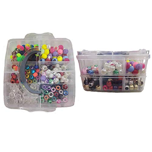 420PCs Hair Beads for Braids for Wo…