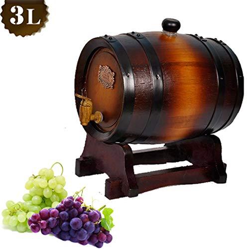 RHSMP wijn maken vaten vat bier Tap eiken wijn vintage hout hout Dispenser voor Whiskey voor opslag of veroudering wijn & geesten & concept bier 3L