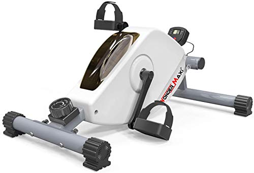 Under Desk Bike Pedal Exerciser, Mini Exercise Bike Peddler Magnetic Stationary Cycle for Office Home Equipment Leg and Arm Pedal
