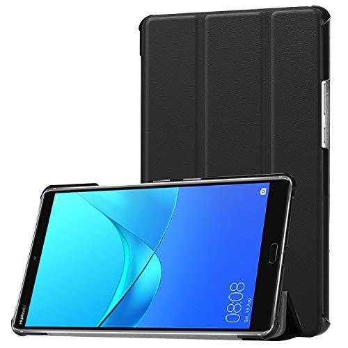 Hülle für Huawei MediaPad M5 8.4 Zoll Schutzhülle Tablet Smart Cover mit Auto Sleep/Wake, Standfunktion & Touchpen Schwarz