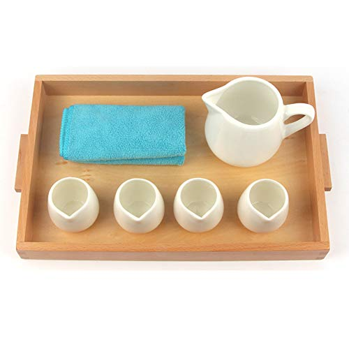 Wumudidi Montessori Pouring Water and Distribution Toys, Wooden Daily Life