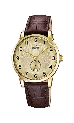 Candino Herren Analog Quarz Uhr mit Leder Armband C4592/3