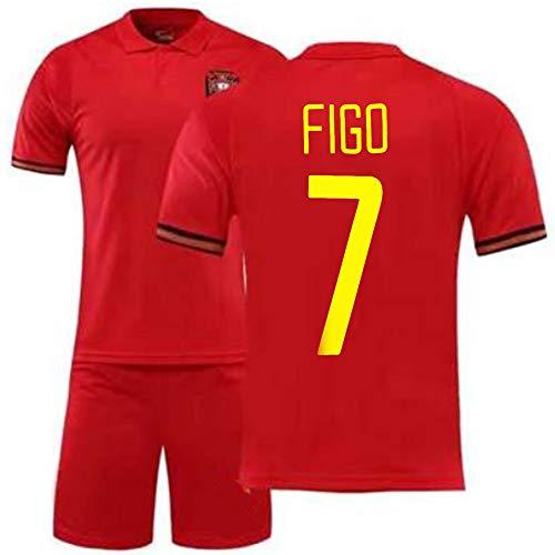 YUUY Jersey Shirt Luís Figo # 7 Football Jersey, Geschenk for Erwachsene und Kinder (Color : C, Size : Adult-M)
