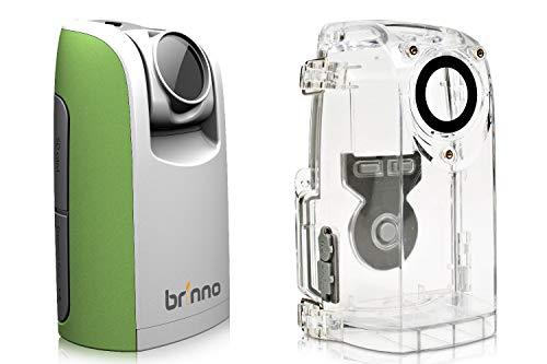 Brinno TLC200 + ATH110 Time Lapse - Cámara con cronógrafo, Pantalla LCD de 1,44 Pulgadas, resolución de vídeo de 1280 x 720 cm, con Funda Resistente a los Agentes atmosféricos, Verde/Blanco