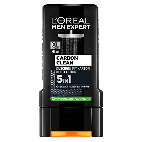 L'Oréal Paris Men Expert 5in1 Duschgel für Männer, Zur Reinigung von Körper, Haar und Gesicht, Carbon Clean, 1 x 300 ml