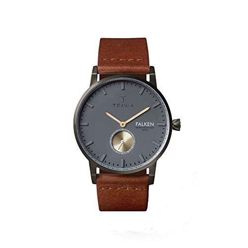 Triwa Walter Falken Unisex Watch with Brown Classic Leather Band FAST102 CL010213