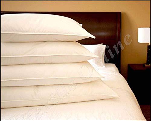 Paquete de 4 almohadas de pluma de pato de calidad