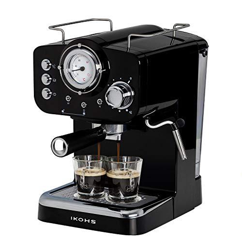 IKOHS THERA Retro - Cafetera Express para Espresso y Cappucino, 1100W