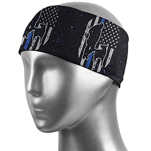 Police K-9 Thin Blue Line USA Flag Unisex Outdoor Sports Sweat Belt