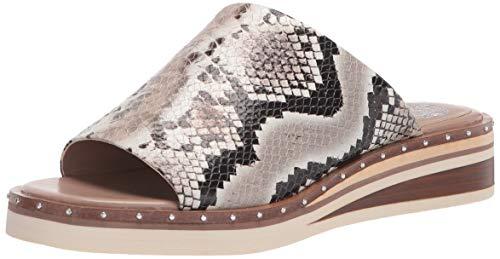 Vince Camuto Women's Meralda Wedge Slide Sandal, Taupe, 8