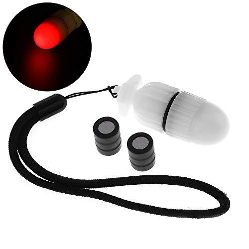 BANGWEIER 1 PZ Subacquea Strobe Luce di Segnale Scuba Night Dive Marker LED Flashy Lampada di Sicurezza Firefly Diving Beacon Fascio 200 M Subacquea 200 ore Durata con Batteria