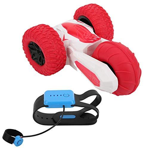 KUIDAMOS Textura Flexible Rotating Stunt Car Toy RC Car Toy 3 Ruedas Control de inducción Manual Rotación de Acrobacias para niños Adecuado para Regalos para niños(Red)