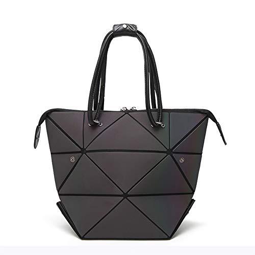 Gogoxm Geometrische Leuchtende Handtaschen für Damen Holographische PU-Leder Geldbörsen und Frauen Handtaschen Scherbe-Gitter-umweltfreundlicher holographischer Geldbeutel Schultertasche