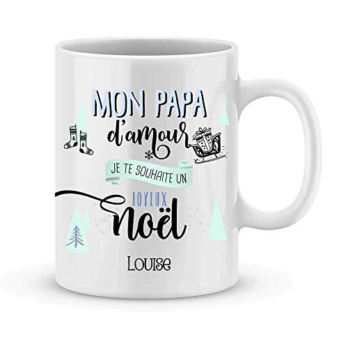 Cadeau de Noël pour papa   Mug Joyeux Noël PAPA à personnaliser