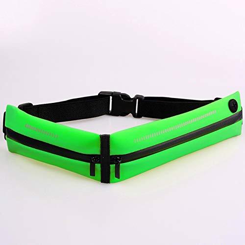 Cintura da corsa impermeabile, sottile, comoda, leggera, adatta per corsa, esercizio fisico, ciclismo, passeggiate, viaggi e attività all'aperto. Zaino portachiavi di grande capacità (verde)