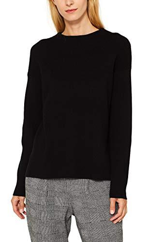 ESPRIT Damen 099EE1I026 Pullover, Schwarz (Black 001), Small (Herstellergröße: S)