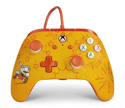 Controller Avanzato Cablato PowerA per Xbox One - Cuphead