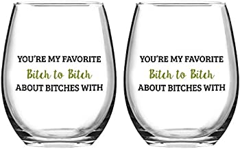 2-Count You're My Favorite Stemless Wine Glasses, 15 Oz