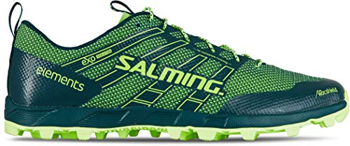 Salming Elem 2019 - Zapatillas de Running para Hombre, Color Verde, Color Azul, Talla US 9 | EU 42 2/3