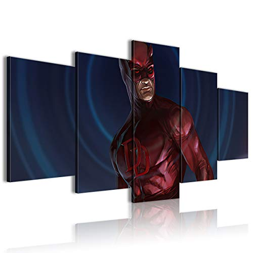 Póster de cinco cuadros cómics Daredevil personalizable 150 x 80 cm enmarcado