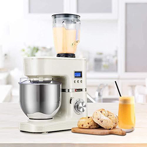 Hauswirt Stand Mixer, 4.5-quart Tilt-Head Kitchen Mixer with Blender, Dough Hook, Wire Whip, Flat Beater, Pouring Shield, Slicer/Shredder Attachment
