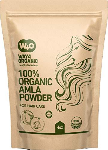 Amla Powder for Hair Growth Organic 4 Oz, Indian Gooseberry amalaki Supplement - Way4Organic