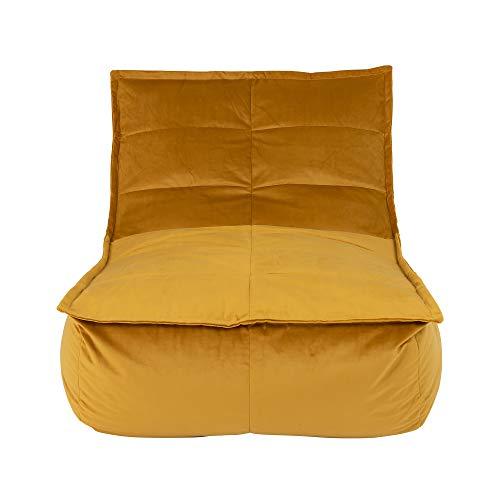 Icon Tumbona Tipo puf Dolce, Extragrande, Terciopelo, Pufs Gigantes para Sala de Estar, Dormitorio, Puffs Pera