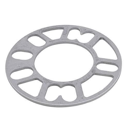 Separadores De Ruedas 2pcs universal del coche rueda de neumático separador de adaptación cuñas Placa Para 4x100 5x100 5x108 4x114.3 5x114.3 5x120 (Color : Silver 10mm)